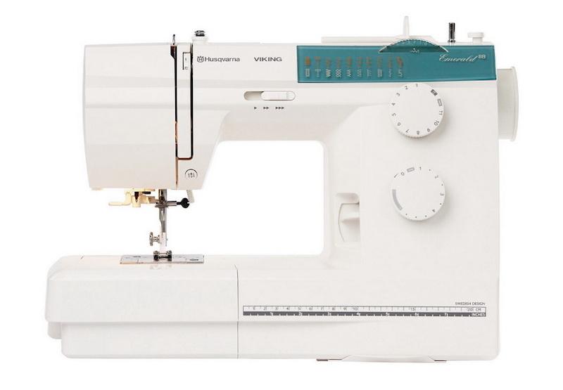Husqvarna Viking sewing machine on a white background