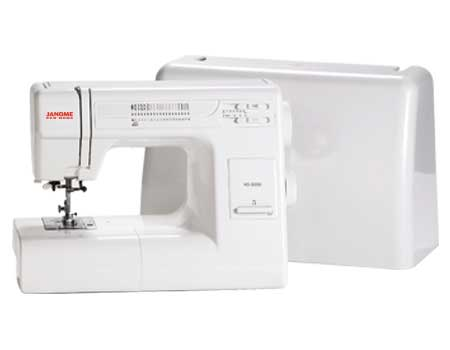 Janome HD3000 sewing machine with a plastic case