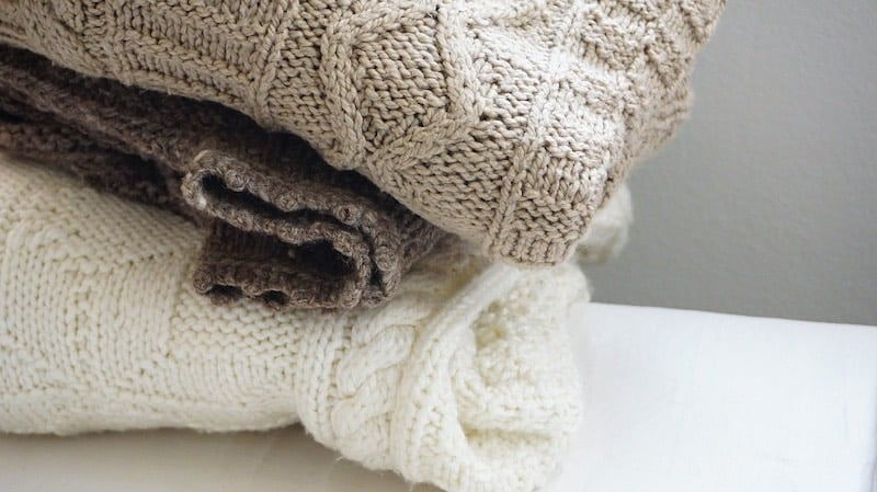 Folded knitted garments
