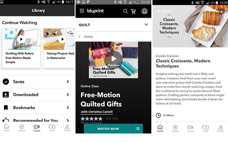 Bluprint website smartphone view