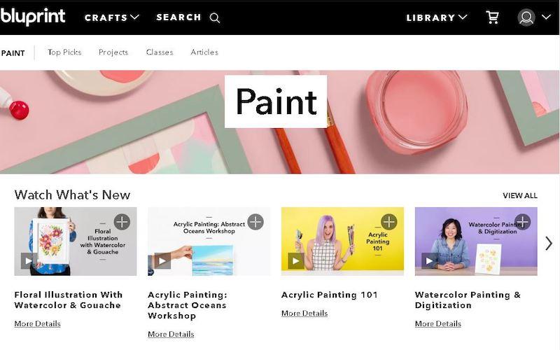 Bluprint paint classes selection