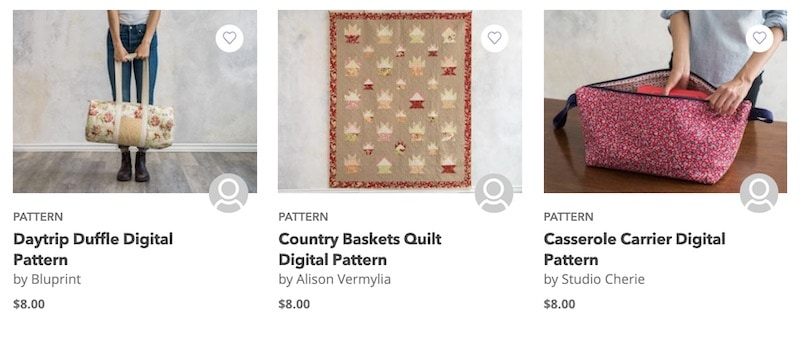 Bluprint patterns selection