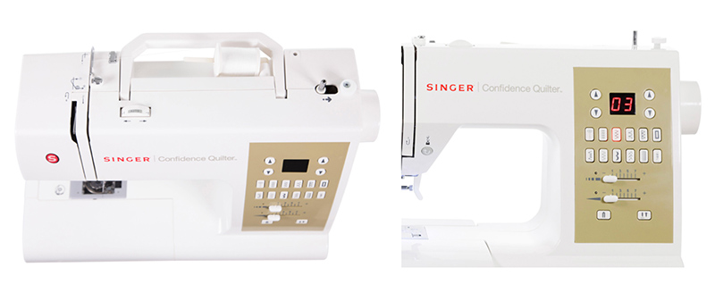 Singer Confidence Quilter 7469Q front view and top view collage