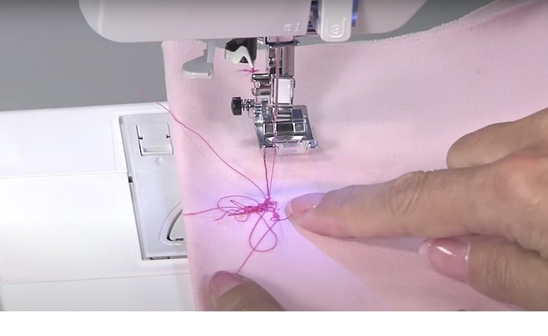 Thread bunching on a fabric while sewing