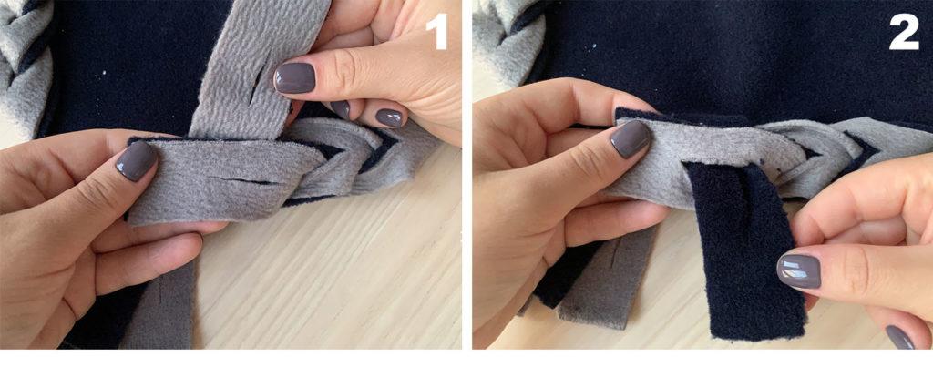braiding fleece fringes