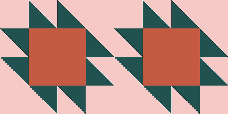 anvil quilt pattern diagram