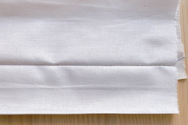 blind hem stitch on the front side of the fabric