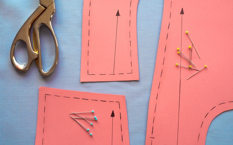 free sewing pattern on a fabric