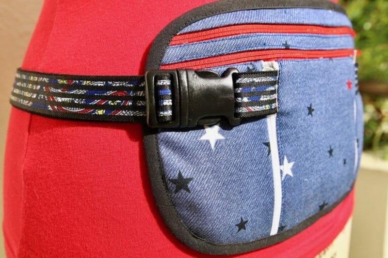 money belt made of denim fabric