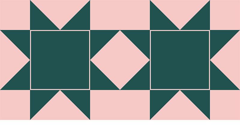 reverse sawtooth star quilt pattern