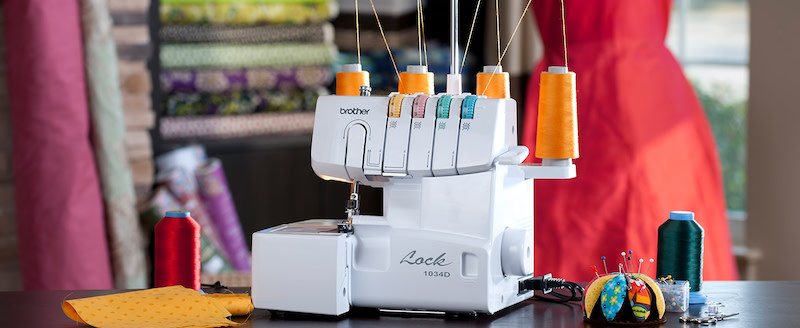 Brother 1034D serger on a table